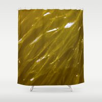 orange pattern Shower Curtains featuring Orange pattern by Svetlana Korneliuk