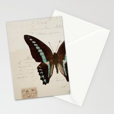 blue spotted butterfly Stationery Cards