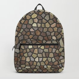 Faux Stone Mosaic in Brown Backpack
