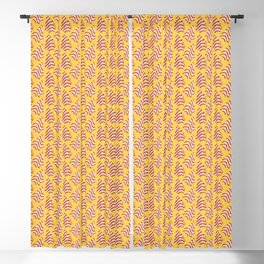 Christmas Tree Cakes Pattern - Yellow Blackout Curtain