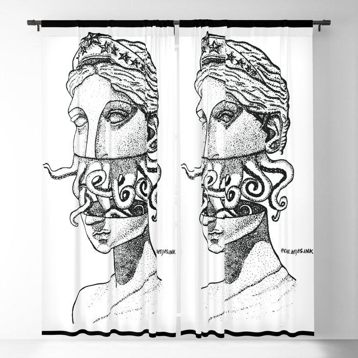 Greek Renaissance Octopus Blackout Curtain