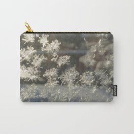 Sparkling Snow Crystals - Delicate Beauty Carry-All Pouch