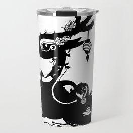 Dragons and Roses Travel Mug