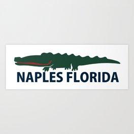 Naples Beach - Florida. Art Print