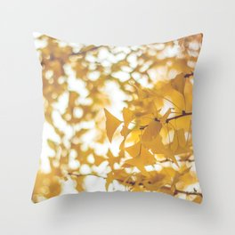 Looking up in yellow Throw Pillow