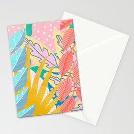 Modern Jungle Plants - Bright Pastels Stationery Cards