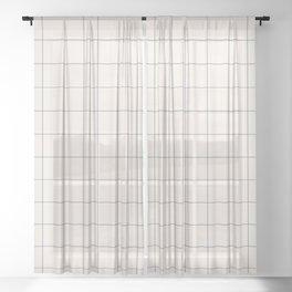 windowpane plaid Sheer Curtain