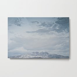 Four Peaks Winter Metal Print