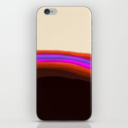 Orange, Purple, and Cream Abstract iPhone Skin