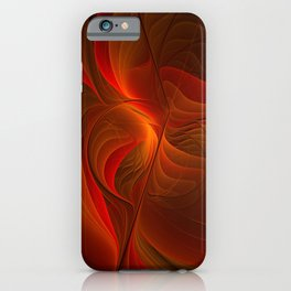 Warmth, Abstract Fractal Art iPhone Case
