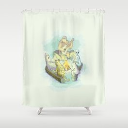 music camping Shower Curtain