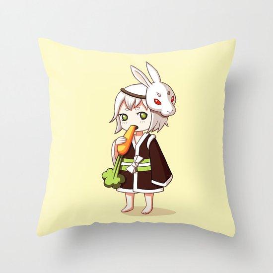 Bunny Mask Throw Pillow