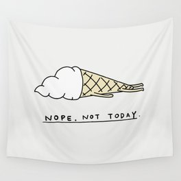Nope Ice Cream Wall Tapestry