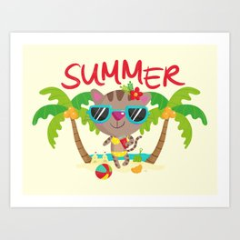 Hello, summer Art Print