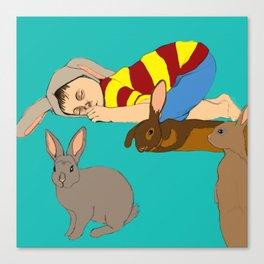 Bunny Boy Canvas Print