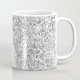 Graffiti Black and White Pattern Doodle Hand Designed Scan Coffee Mug