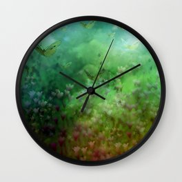 """""""The Enchanted Forest"""" (Fairyland) Wall Clock"""