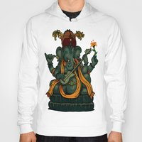 ganesha Hoodies featuring Ganesha by Nip Rogers