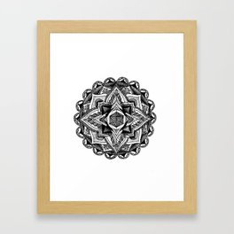Mandala Circles Framed Art Print