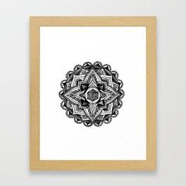 Mandala Circles Framed Art Print