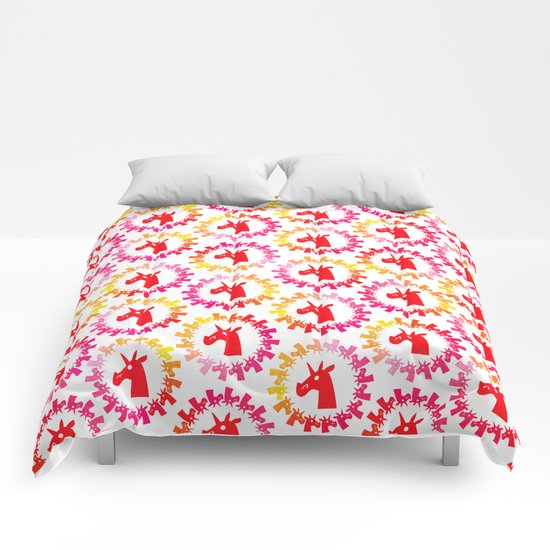 Color Me Red Unicorn Comforters