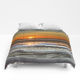 Silver and Gold Sunset Comforters