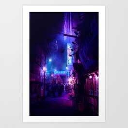 Tokyo Nights / Midnight City / Liam Wong Art Print