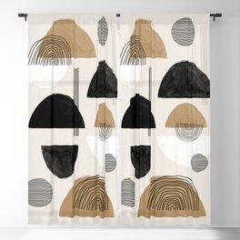 Paper Collage Art Blackout Curtain
