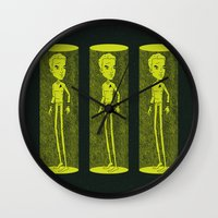 captain swan Wall Clocks featuring Captain by Derek Eads
