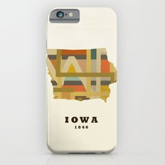Iowa state map modern iPhone 6s Slim Case