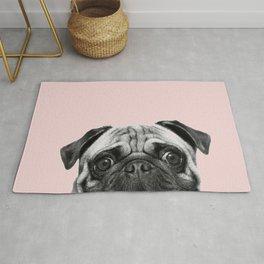Blush pink Pug pop Rug