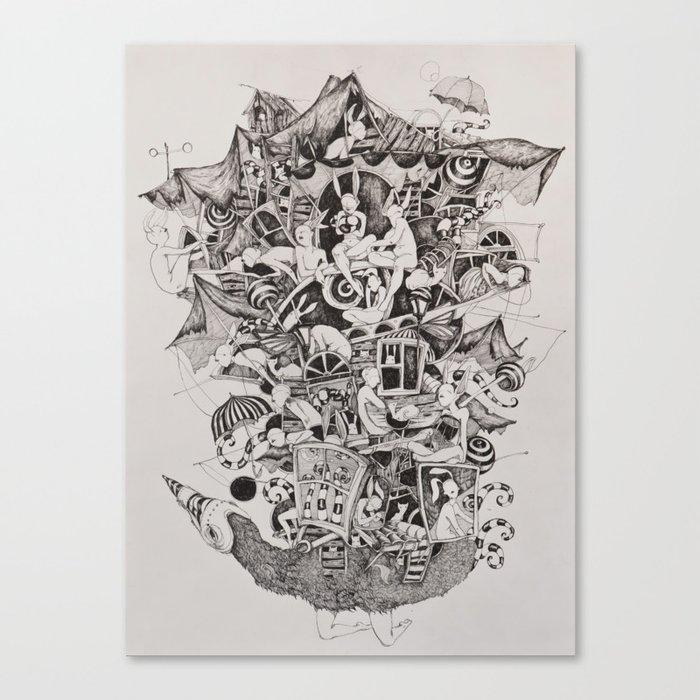 Flighless bird Canvas Print