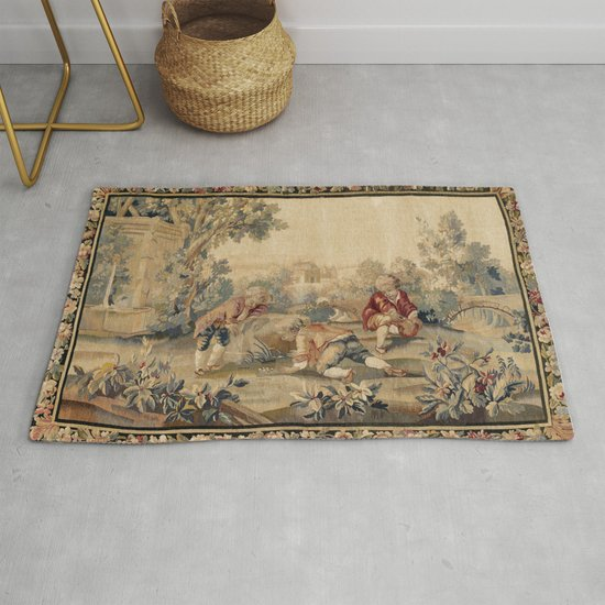 Aubusson  Antique French Tapestry Print by vickybragomitchell