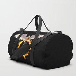 Lucifer Wings Fire Ring Duffle Bag