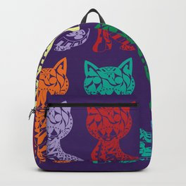 Folk Cats on paper film Backpack