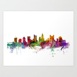Columbus Ohio Skyline Art Print