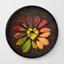 Leaf Love No.3 Wall Clock