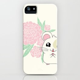 Hamster and Peony iPhone Case