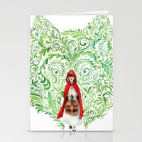 red riding hood Stationery Cards featuring Red Riding Hood by Stephane Lauzon