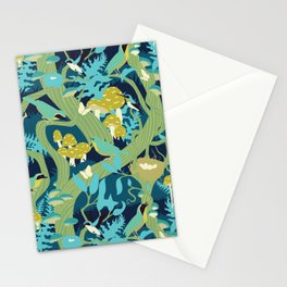 North American Forest Pattern (Greens) Stationery Cards