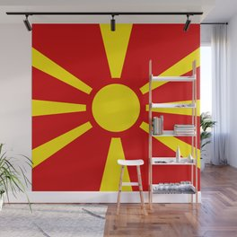 Macedonian national flag Wall Mural