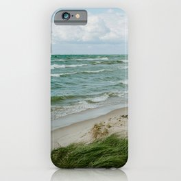Windy Day on Lake Michigan iPhone Case