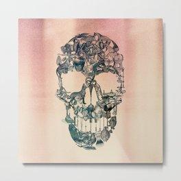 Skull Vintage Metal Print