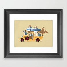 Surfin Safari Framed Art Print