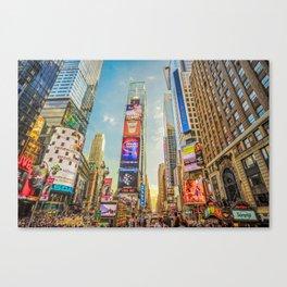 Times Square Hustle Canvas Print