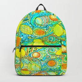 Abstract Citrus pattern drawing Backpack