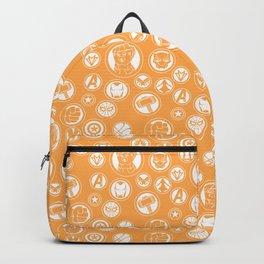 Superhero Infinity War Logo in Orange Backpack