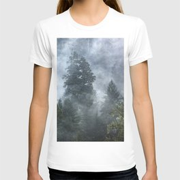 Smoky Redwood Forest Foggy Woods - Nature Photography T-shirt
