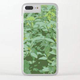 Yellow Flower Grass Clear iPhone Case