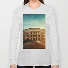 Colosseum Amphitheatre Rome Italy Long Sleeve T-shirt